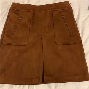 Tan coloured suede skirt